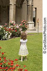 kind, in de tuin