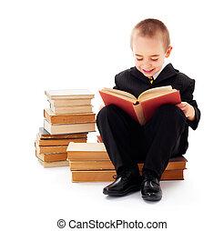 kind, lezende