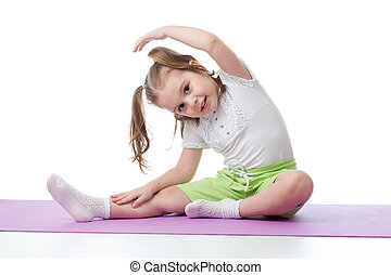 kind, machen, fitness, übungen