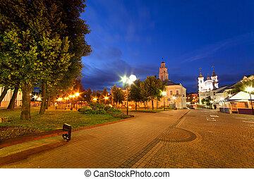 Kind of a night city, Vitebsk, Belarus
