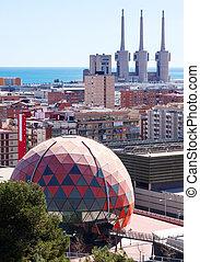 Kind of Badalona and Sant Adria de Besos. Barcelona, Spain