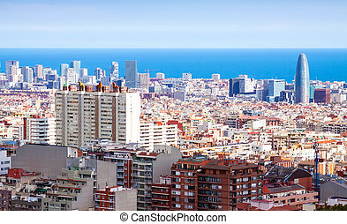kind of Barcelona in sunny day