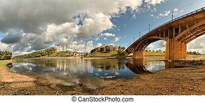 Kind on the river Zapadnaya Dvina, Vitebsk, Belarus