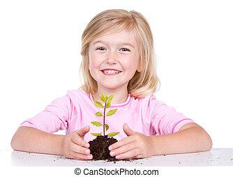 kind, pflanze
