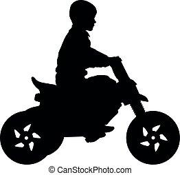 reiten motorrad kind motorrad freigestellt. Black Bedroom Furniture Sets. Home Design Ideas