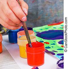 kind schilderstuk