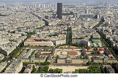 Kind to Paris from Tour d'Eiffel height