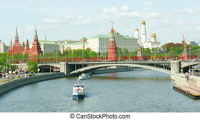Kind to the Moscow Kremlin  and   Moskva River