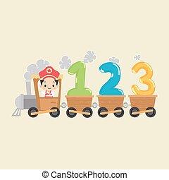 kind, zug, mit, 123