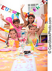 kinder, feiern, geburtstage