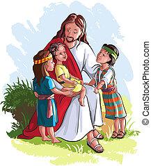 kinder, jesus