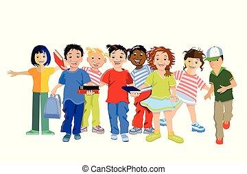 Kinder Lachen. - Children laugh and are happy