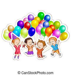 Kinder, luftballone