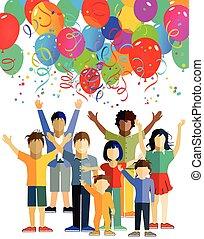 kinder, luftballons, אמ.איי.טי