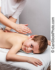 kinder, massage