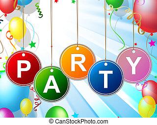 Kinder, Mittel, Kleinkinder,  party, Kindheit, feier