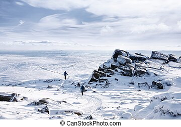 Kinder Scout in winter