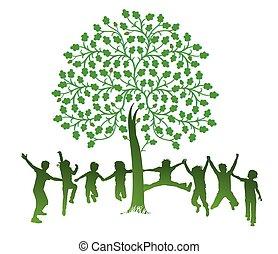 Kinder und Baum.eps