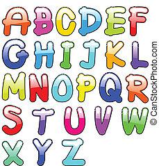 kinderachtig, alfabet