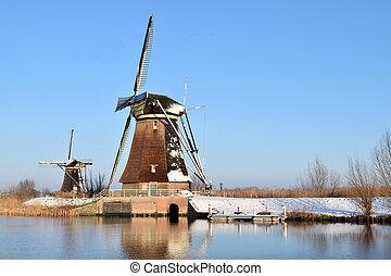 Kinderdijk at the Netherlands