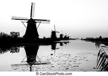 Kinderdijk in holland