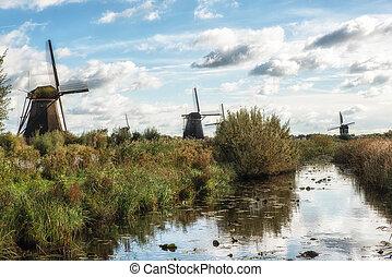 Kinderdijk Windmills and Canal