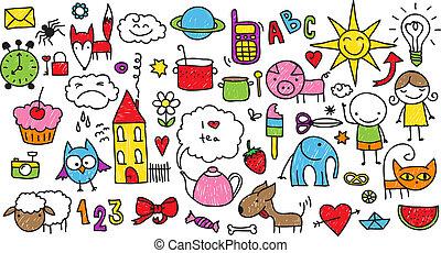 kinderen, doodle