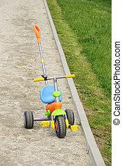 kinderen, fiets