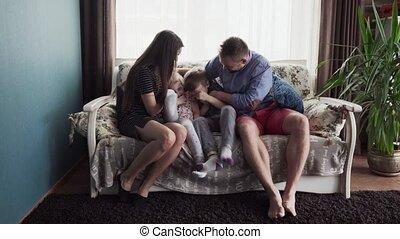 kinderen, gezin, vrolijke