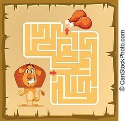 kinderen, labyrint, spel