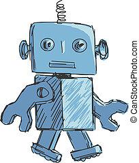 kinderen, robot