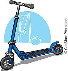 kinderen, scooter