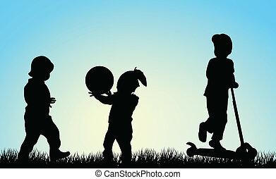 kinderen spelende