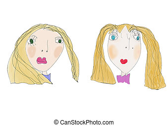 kinderen, tekening