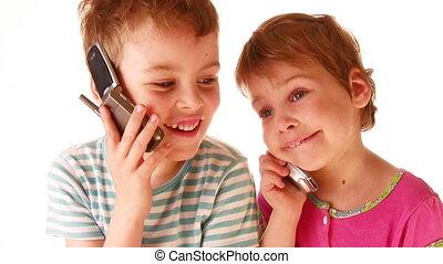 kinderen, telefoon