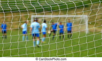 kinderen, voetbalwedstrijd