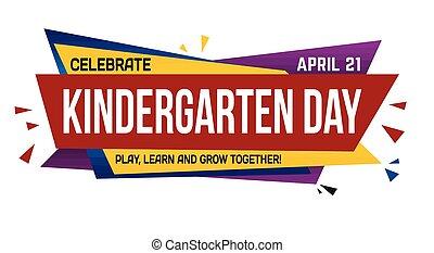 Kindergarten day banner design