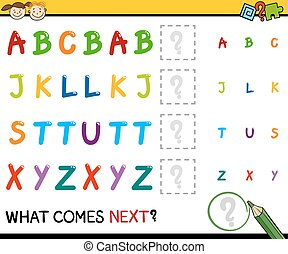 kindergarten educational pattern task - Cartoon Illustration...