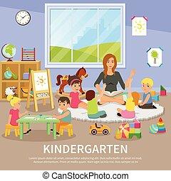 Kindergarten Flat Composition