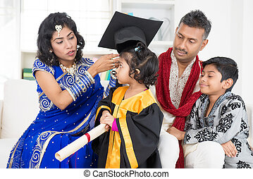 kindergarten, gradindelning, familj