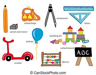 Kindergarten Toys - Education toys and tools used in school...