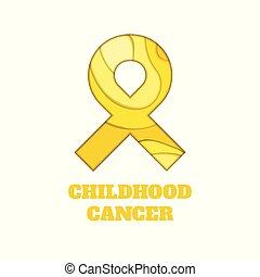 kindertijd, kanker, bewustzijn, papercut, lint
