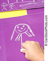 kindertijd, tekening