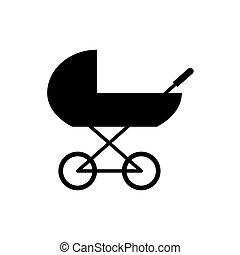kinderwagen, kinderwagen, pictogram