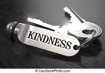 Kindness Concept. Keys with Keyring.