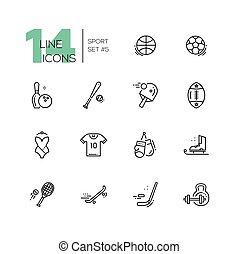 Kinds of Sport - line icons set - Kinds of sport - modern...