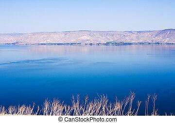 Kineret lake, Israel . - View of the sea of Galilee (Kineret...