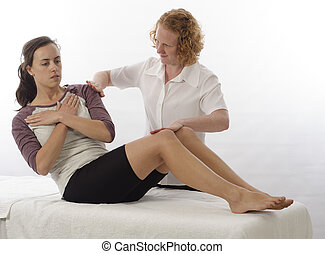 Kinesiologist treating Abdominals - Kinesiologist or...