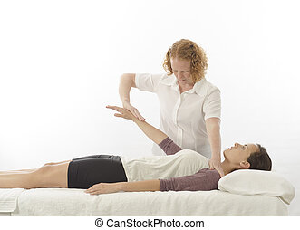 Kinesiologist treating anterior deltoid - Kinesiologist or...