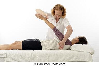 Kinesiologist treating anterior serratus - Kinesiologist or...
